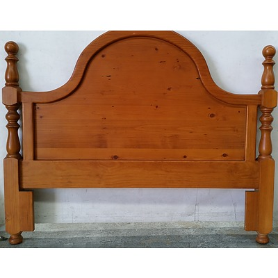 Pine Queen Size Bed Head