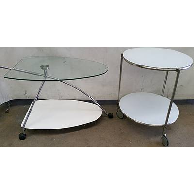 Art Deco Mobile Occasional Tables - Lot of Two