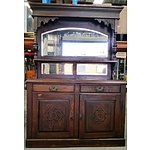 Antique Stained Kauri Pine Buffet and Hutch
