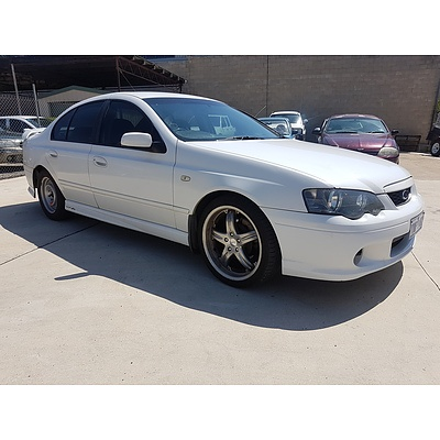 11/2003 Ford Falcon XR6 BA 4d Sedan White 4.0L