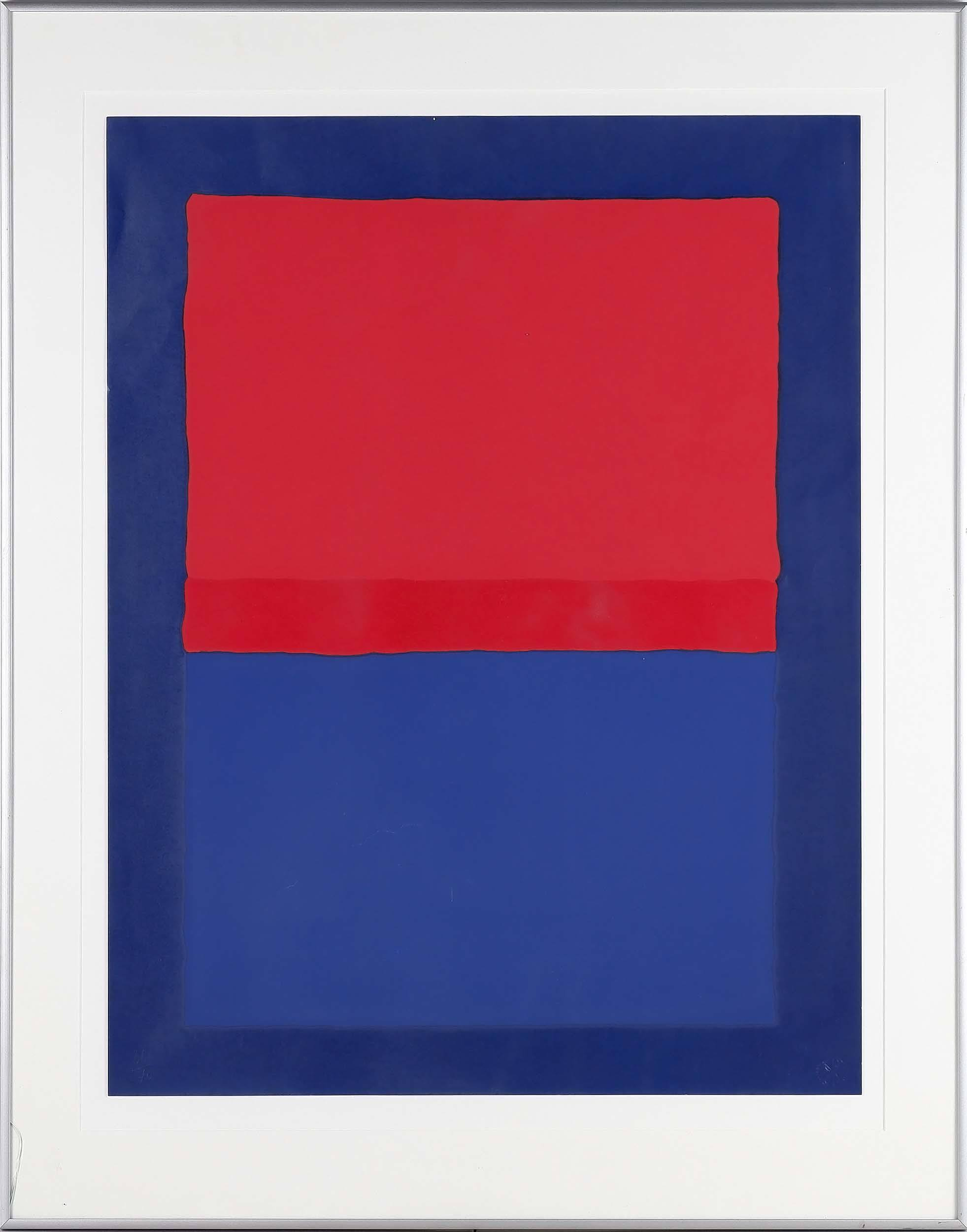 'Roland Weber (1932-1988) Rouge-Bleu Limited Edition Serigraph 36/70'