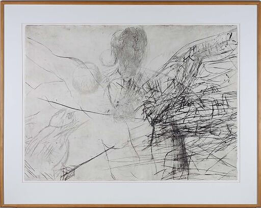 'Mike Parr (1945-) Solar Winds 1989 Drypoint Engraving 2/8'