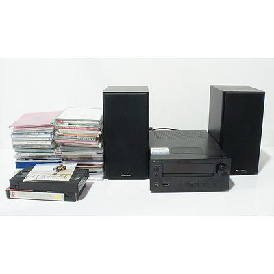 Pioneer X-HM30 with CD's and VHS