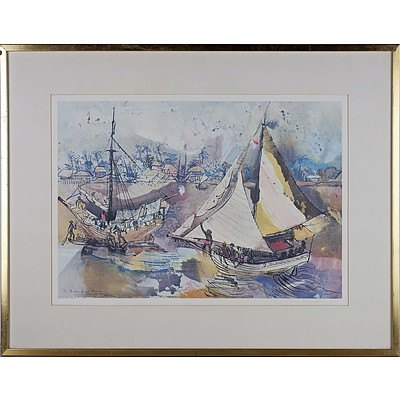 Donald Friend (1915-1989) The Prahu from Nusa Hand Signed Limited Edition Offset Print 11/50
