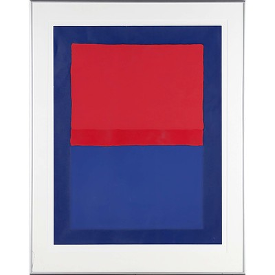 Roland Weber (French 1932-1988) Rouge-Bleu Limited Edition Serigraph 36/70