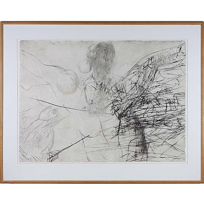 Mike Parr (1945-) Solar Winds 1989 Drypoint Engraving 2/8