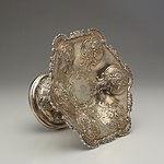 Late Victorian Monogrammed Sterling Silver and Repousse Tazza Samuel Hardy London 1900