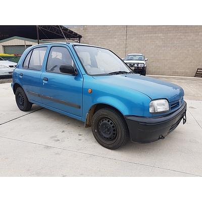 12/1995 Nissan Micra SLX  5d Hatchback Blue 1.3L