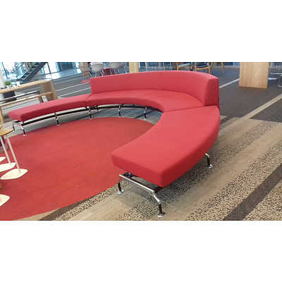 Curved Red Modular Lounge