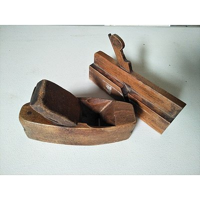 2 x vintage timber wood planers (30mm and 60mm)