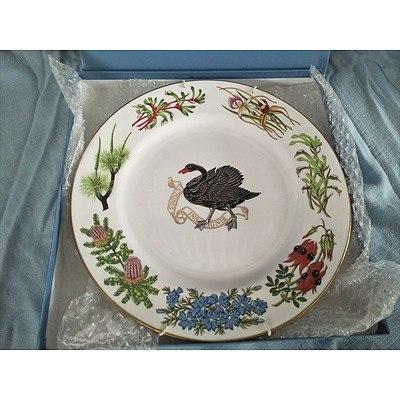 "Spode bone china plate ""Commemorating 150th Anniversary of Western Australia"""