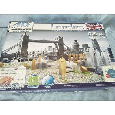 4D 1200 piece jigsaw puzzle - London Cityscape