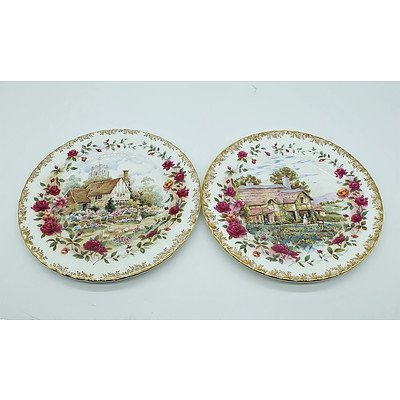 Two Royal Albert Bone China Plates Including Old Country Roses and Four Seasons Spring