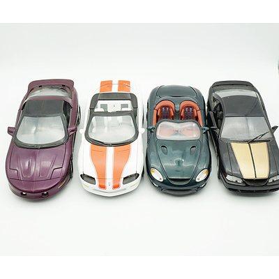 Four 1:18 Models, Including Ertl Camaro, Maisto Mustang Mach III, Ertl 1996 Pontiac Firebird and Universal Hobbies Mustang 94