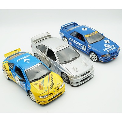 Kyosho 1:18 Nissan CTR Skyline, UT Models 1:18 Ford Escort and Anson 1:18 Renault Maxi Megans