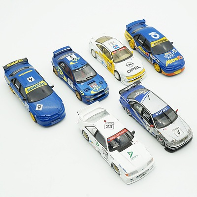 Six 1:43 Model Cars, Including Trofeu Subaru Impreza, Onyx Volvo S40, Classic Collectables Ford Falcon and More
