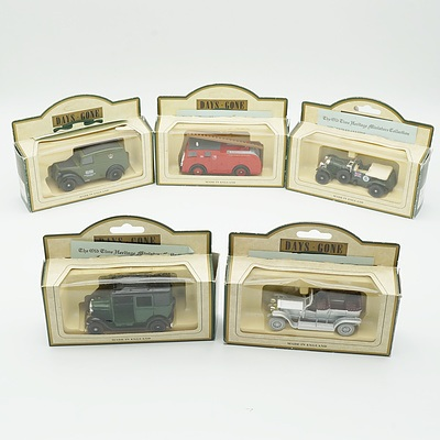 Five Boxed Models of Yesteryear, Inlcuding1907 Rolls Royce Silver Ghost, 1930 Bentley, 1950 Morris Z Van and More