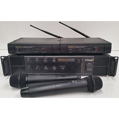 Redback Sound System, Receivers and Two Microphones