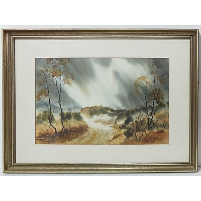 Heather Blackstock Bush Land Thunderstorm 1979 Watercolour