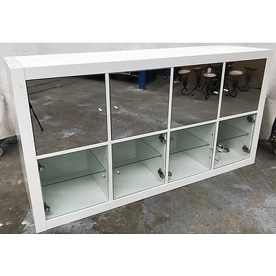 Two White 8 Door Chest