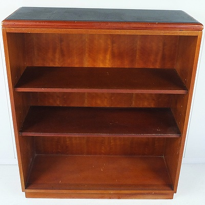 Queensland Maple and Blue Vinyl Top Ash Bookcase