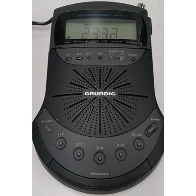 Grundig Electronic FM Clock Radios - Lot of 20
