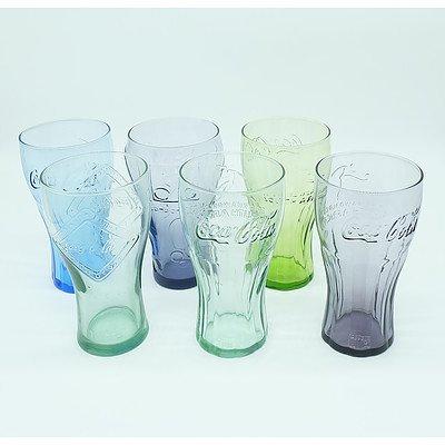 Twelve Coca Cola Collectors Glasses