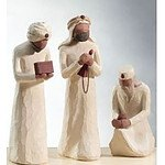 Willow tree figurines - 3 Wise Men  & Shepherd and Stable Animals