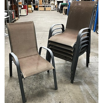 6 Aluminium Outdoor Armchairs
