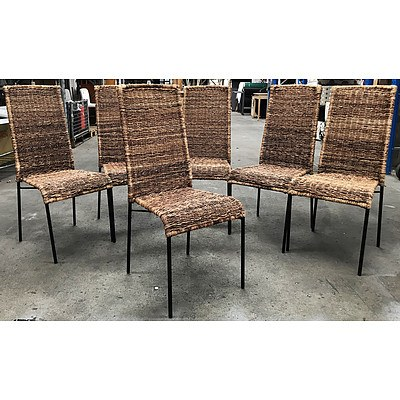 6 Wicker Outdoor Armchairs - Ex Demonstration