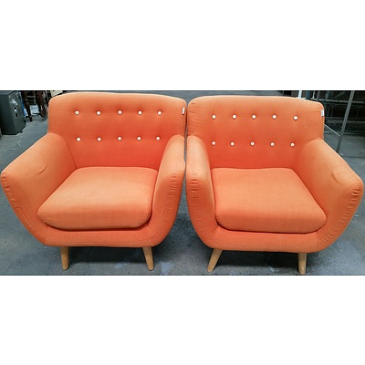 Line Design Armchairs - Lot of Two