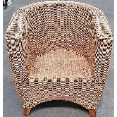 Cane Tub Style Armchair