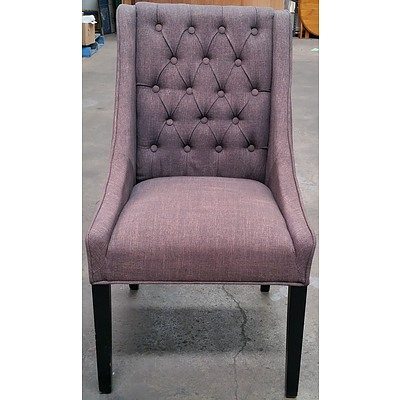 Cushioned Backed Parlour Chair
