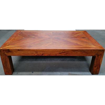 Rustic Hardwood Coffee Table