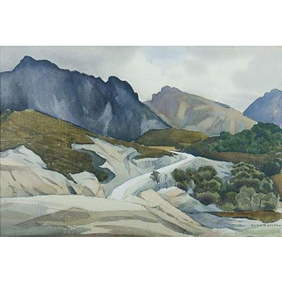 ELDERSHAW, John Roy (1892-1973), Mountain Road, W/Clr