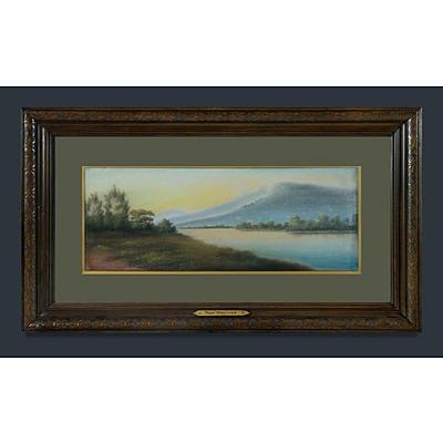PERROTT Hyde (?-1935), 'Tweed River - NSW' , Pastel