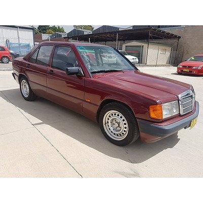 8/1993 Mercedes-Benz 180E 4d Sedan Maroon 1.8L