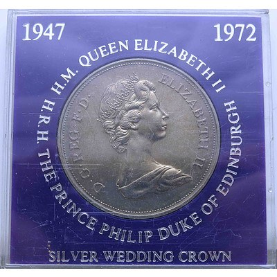 England 1972 Silver Wedding Crown