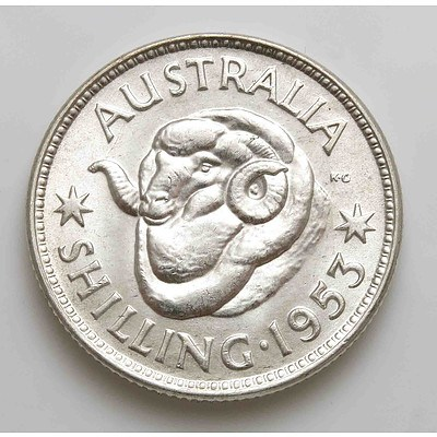 Australia Silver Queen Elizabeth II Shiiling 1953