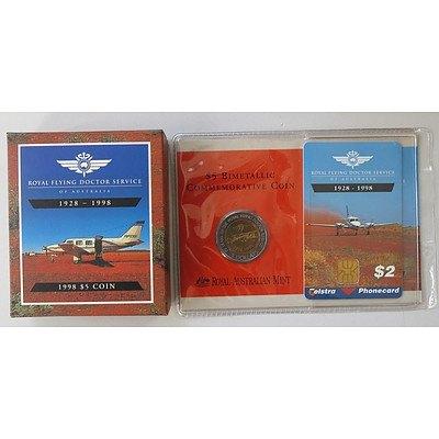 Australia Bi-metallic $5 Flying Doctor Commemorative