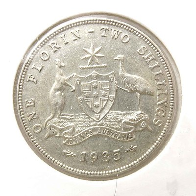 Australia Silver King George V Florin 1935