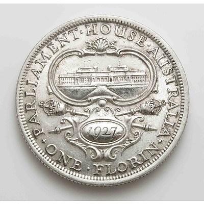 Australia Silver Canberra Florin 1927