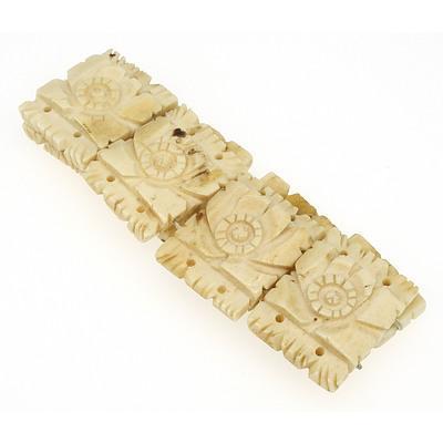 Carved Bone Bracelet