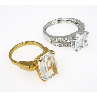 Two Costume Jewellery Rings