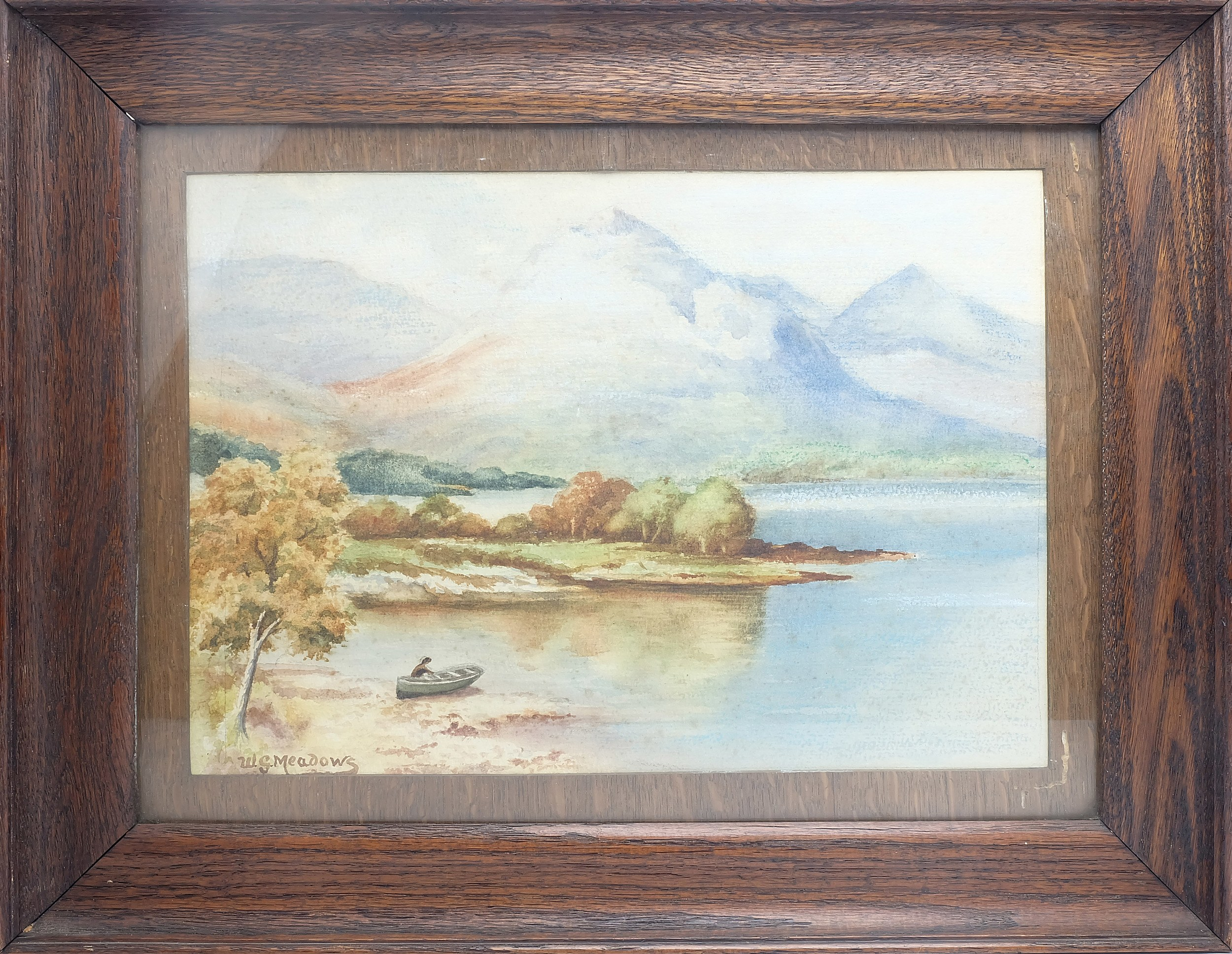 'William G Meadows (English 1825-1901) Loch Awe Watercolour'