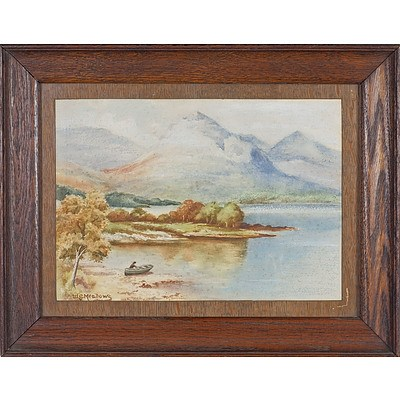 William G Meadows (English 1825-1901) Loch Awe Watercolour