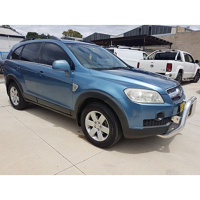 12/2007 Holden Captiva CX (4x4) CG 4d Wagon Blue 2.0L