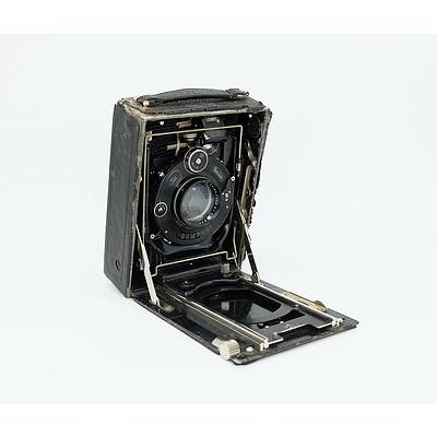 Antique Ica Dresden Compur Large Format Folding Camera Circa 1909