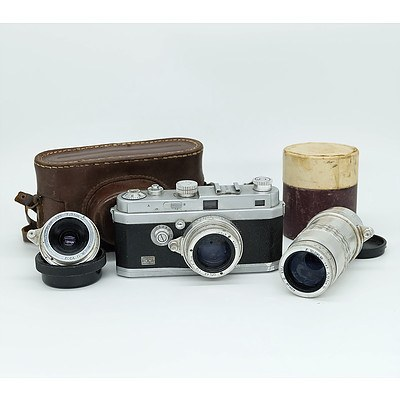 French FOCA OPL Film Camera with Oplar and Telepar Lens Circa 1945