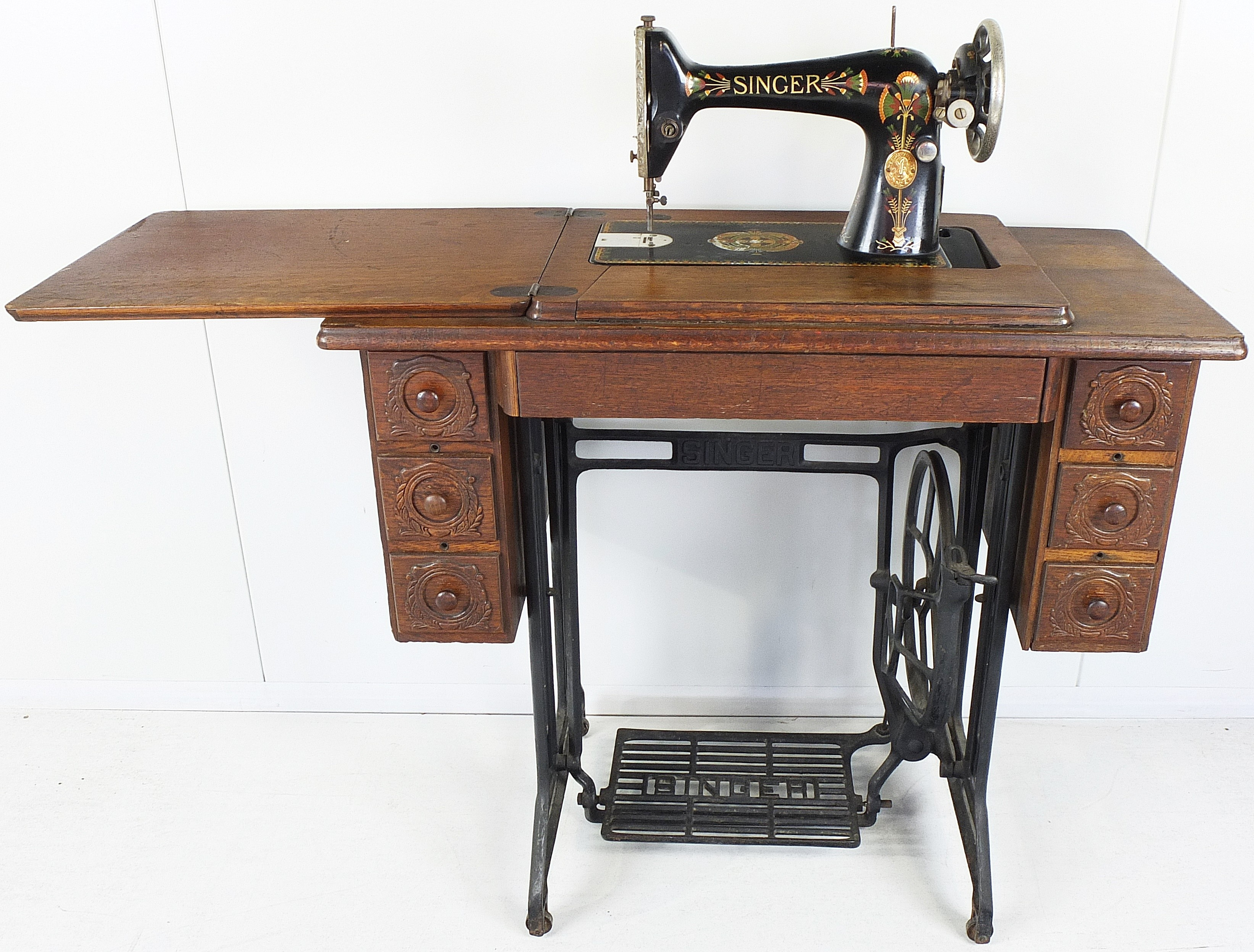 Vintage Singer Sewing Machine and Stand(circa 1935)